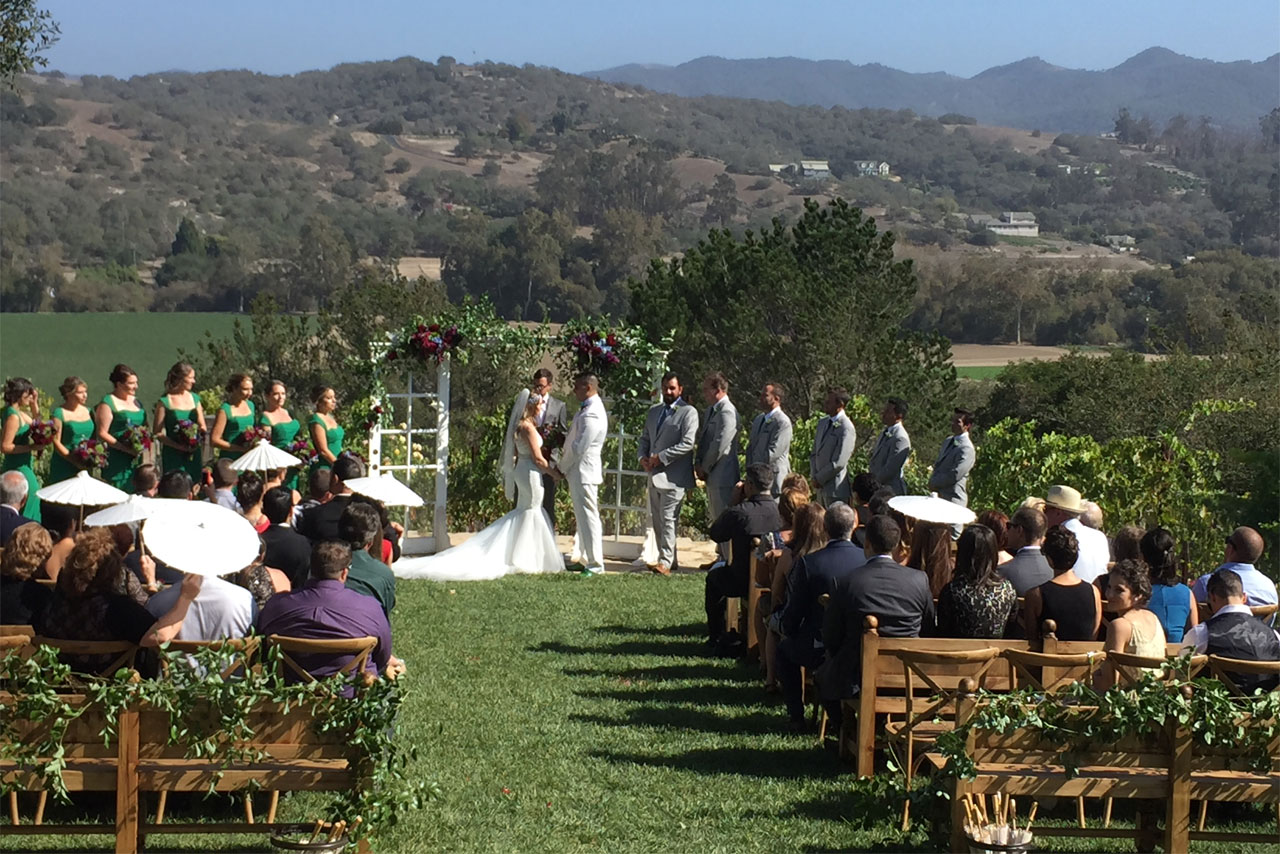 Ceremony at The Casitas Central Coast Wedding Venue