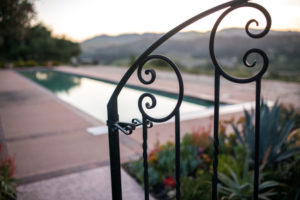 Grounds - Gate to Pool and Bocce The Casitas